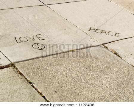 Sidewalk Love And Peace