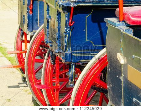 Detail of a horse-drawn carriage