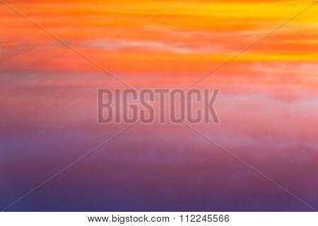Twilight sky with reflection in a lake, Twilight sky with reflection in a lake, Cloudscape, Silhouette photograph.