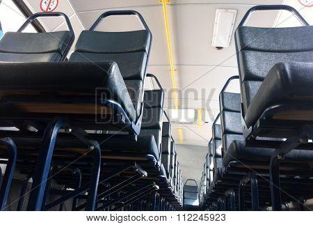 Seats on a public transport bus