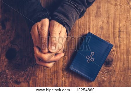 Christian Man Praying