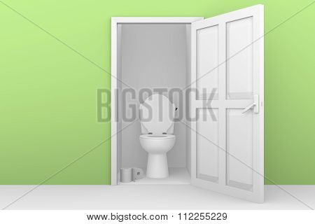 Open Door Toilette