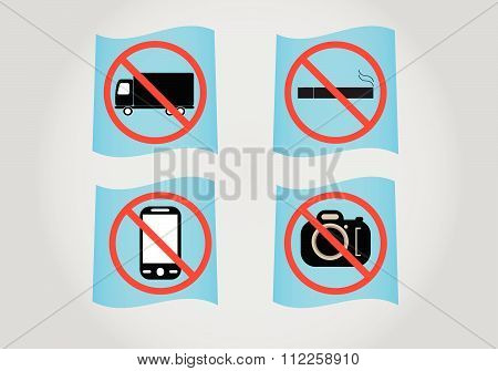 Prohibition Sign Icon, Vector Illustration