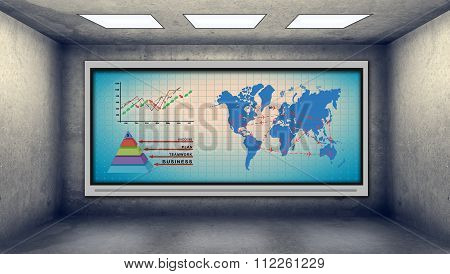 Stock Chart And Air Travel Scheme