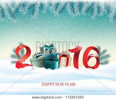 Happy new year 2016! New year design template Vector illustration