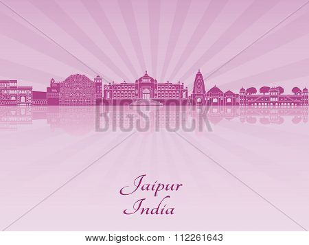 Jaipur Skyline In Purple Radiant Orchid