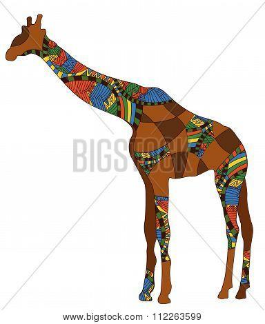 Patterned Giraffe