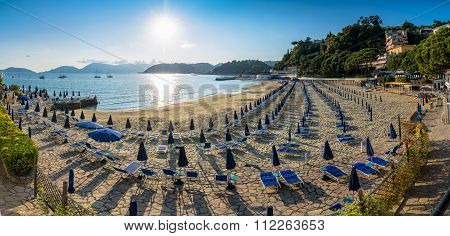 Beach At Sunset In Lerici, Liguria
