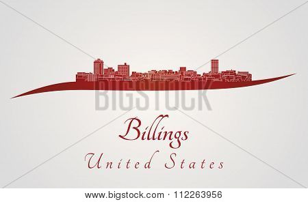 Billings Skyline In Red