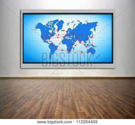 Plasma Tv With Air Travel Scheme