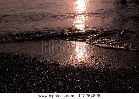 Sunset on the seacoast