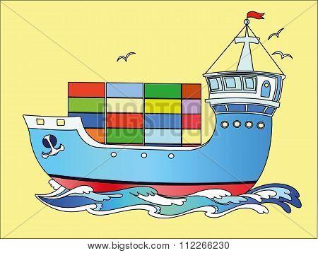 Marine cargo ship color