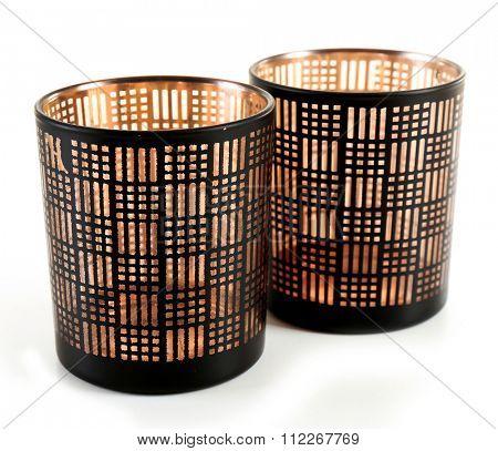 Decorative candlesticks, isolated on white