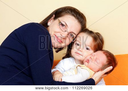 Mother With Her Children