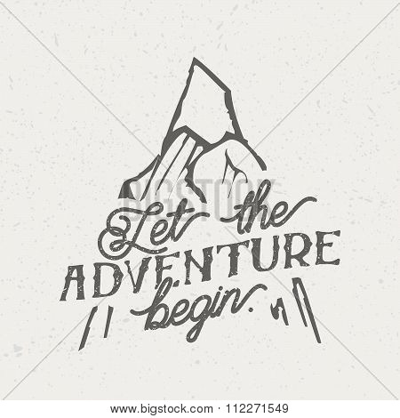 Vintage Illustration - Let The Adventure Begin