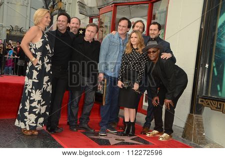 LOS ANGELES - DEC 21:  Hateful Eight Cast at the Quentin Tarantino Hollywood Walk of Fame Star Ceremony at the Hollywood Blvd on December 21, 2015 in Los Angeles, CA