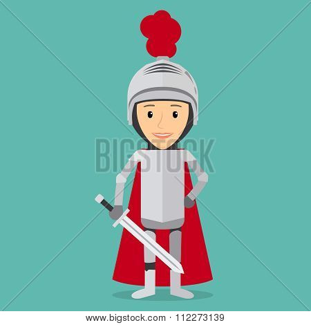 Boy knight vector