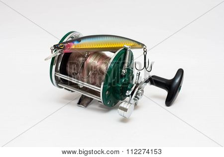 Fishing reel and bait