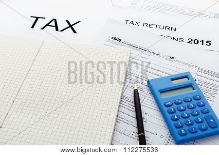Tax Concept With Notebook