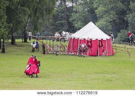 Polish medieval war camp