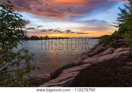 Colorful Sunset Near Sg. Miri River, Labuan FT, Sabah.