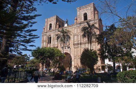 Cuenca, Ecuador - November 27, 2015:  New Cathedral On 27 Novemb