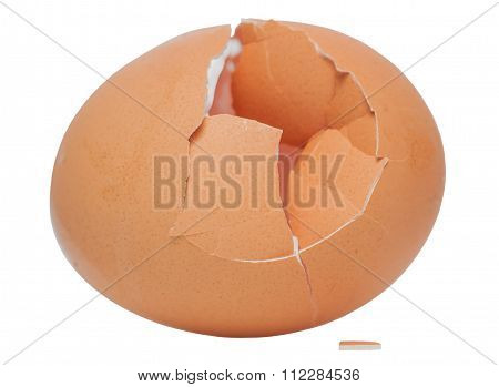 A Cracked Eggshell.