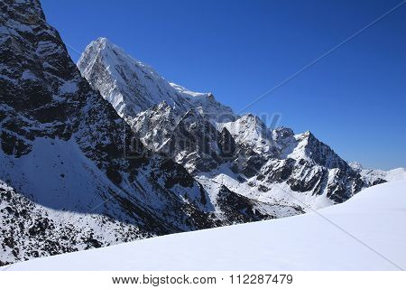 Cholatse, High Mountain In The Everest National Park