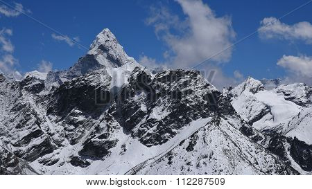 Peak Of Ama Dablam, View From Kala Patthar