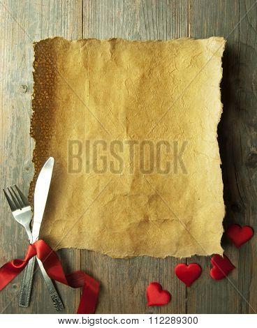 Valentines Menu Background