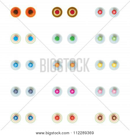 Set Of Colorful Eye Balls.