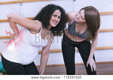Pregnant woman having backache