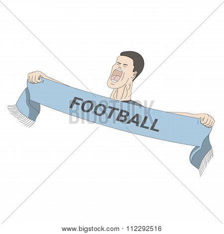 Football fan shouting