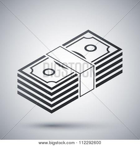 Bundle Of Dollars, Vector Icon