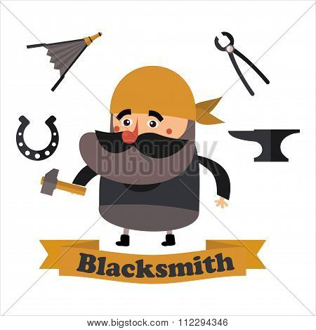 Flat  Icons Blacksmith