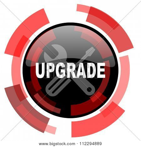 upgrade red modern web icon