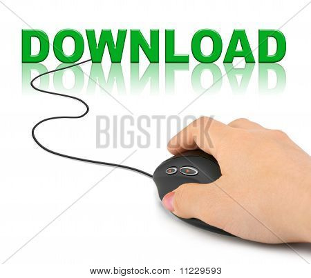 Hand With Computer Mouse And Word Download