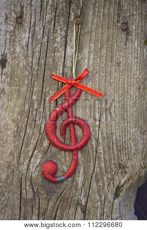 Misic Note On Wood