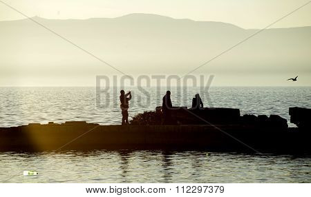 Picture of a OHRID MACEDONIA DECEMBER 20 2015: Ohrid and Lake. City of Unesco