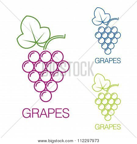 Grape Sign. Logo Wine Production Of Wines