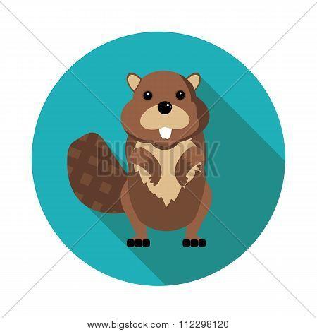 Flat  Icons Beaver
