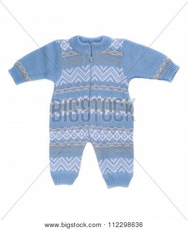 Knitted Blue Rompers.