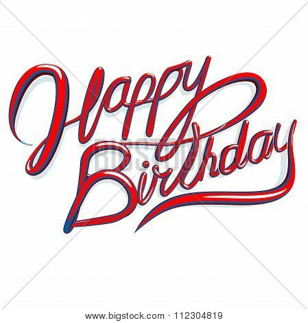 Happy Birthday Text In Vector Fromat