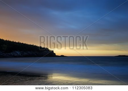 Long Exposures of Ocean and Beach with Dramatic Sky