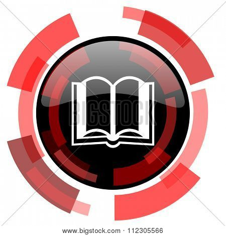 book red modern web icon