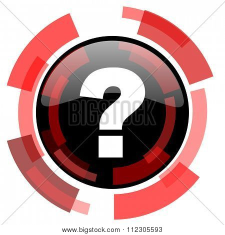 question mark red modern web icon