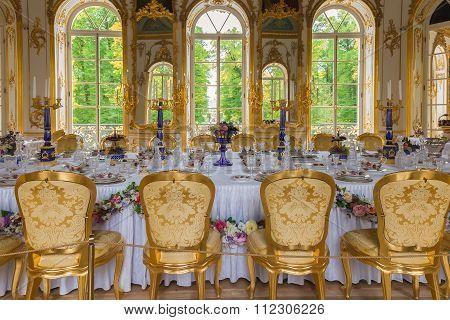 Interior Of Hermitage Pavilion In The Catherine Park Of Tsarskoye Selo, St. Petersburg