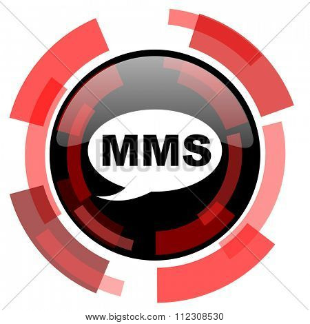 mms red modern web icon