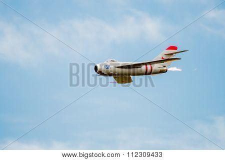 Mig-17 Jet With After Burner