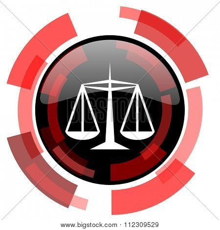 justice red modern web icon